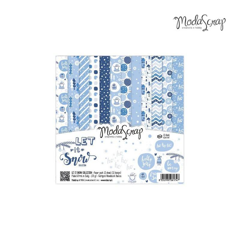 ModaScrap PAPER PACK LET IT SNOW 6X6