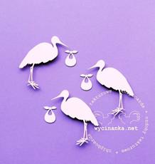 W01334 Stork med baby