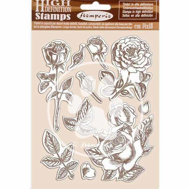 Stamperia Natural Rubber Stamp Passion Rose (WTKCC198)