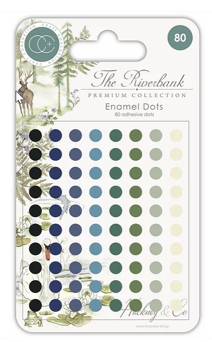 CCADOY002 The Riverbank - Adhesive Enamel Dots
