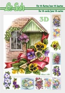 3d A5 bog: Blomster
