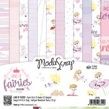 ModaScrap PAPER PACK LAND OF FAIRIES 12x12
