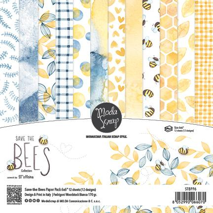 ModaScrap PAPER PACK SAVE THE BEES 6X6
