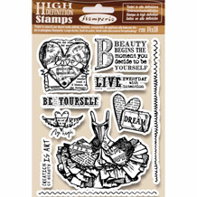 Stamperia Natural Rubber Stamp Fly High (WTKCC165)