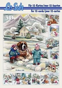 3d A5 bog: Børn og dyr ved jule tid