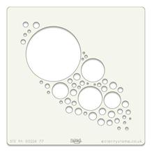 Stencil 7x7 Inch Jo's Bubbles