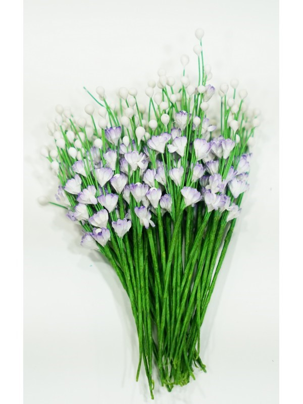 ICMF005 Små Blomster Hvid m/Lilla