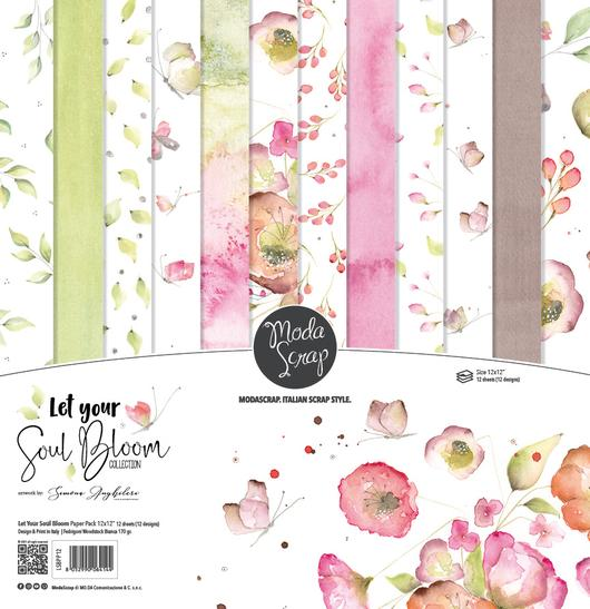 ModaScrap PAPER PACK LET YOUR SOUL BLOOM 12x12
