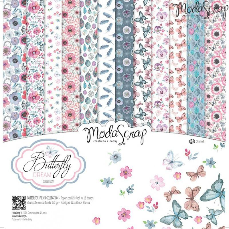 ModaScrap PAPER PACK BUTTERFLY DREAM 12x12