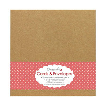 Dovecraft Kraft 6x6 Cards & Envelopes