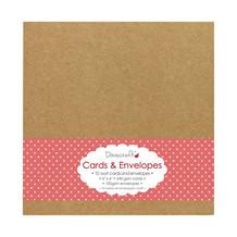 Dovecraft Kraft 6x6 Cards & Envelopes