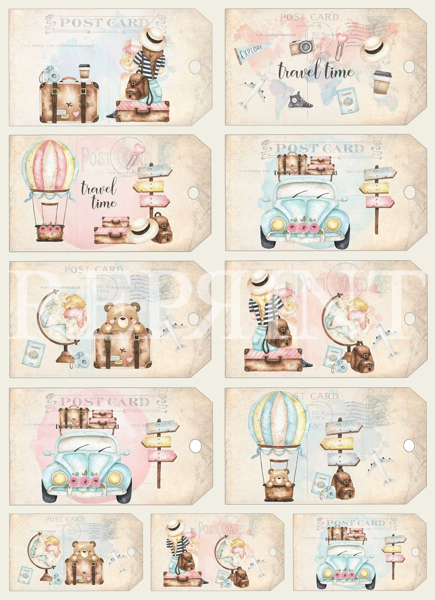 Reprint Around the World Collection A4 Paper Pack (RBP006)