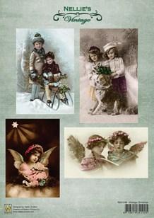 NS Motivark Vintage engle og børn