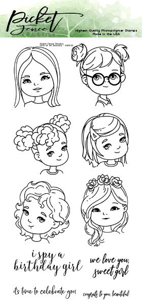 PFS Girls of All Seasons Clear Stamps (KIDS-101)