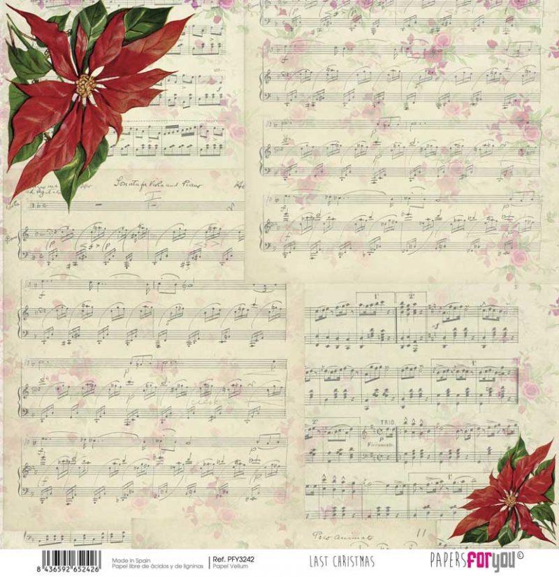 PFY3242 PAPER SCRAP VELLUM LAST CHRISTMAS