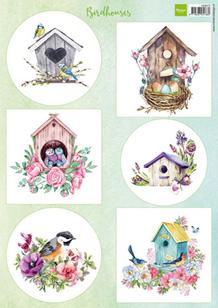 Marianne Design A4 Motiv ark Birdhouses