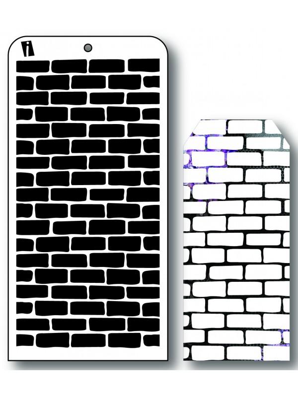 """IC8513 4""""x8"""" Stencil Muret væg"""