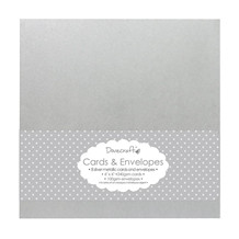 Dovecraft Silver Metallic 6x6 Cards & Envelopes