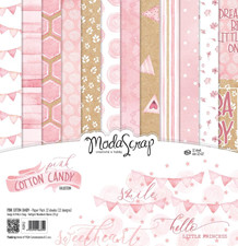 ModaScrap PAPER PACK PINK COTTON CANDY 12x12