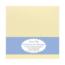 Dovecraft Cream 6x6 Cards & Envelopes