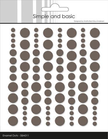 SBA011 Enamel Dots Warm Grey (96 pcs)