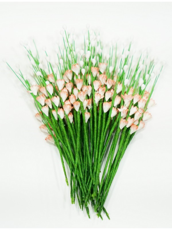 ICMF009 Små Blomster Hvid og Koral