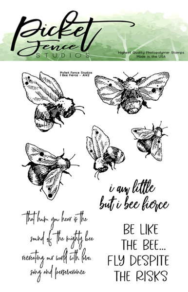 PFS I Bee Fierce Clear Stamps (A-142)