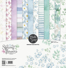 ModaScrap PAPER PACK SPRING FLOWERS 12x12