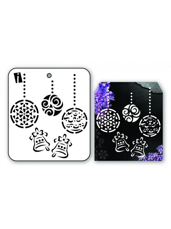 "IC8964 4""x4"" Stencil Christmas Ornaments"