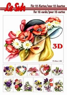 3d A5 bog: Blomster i hatten 1