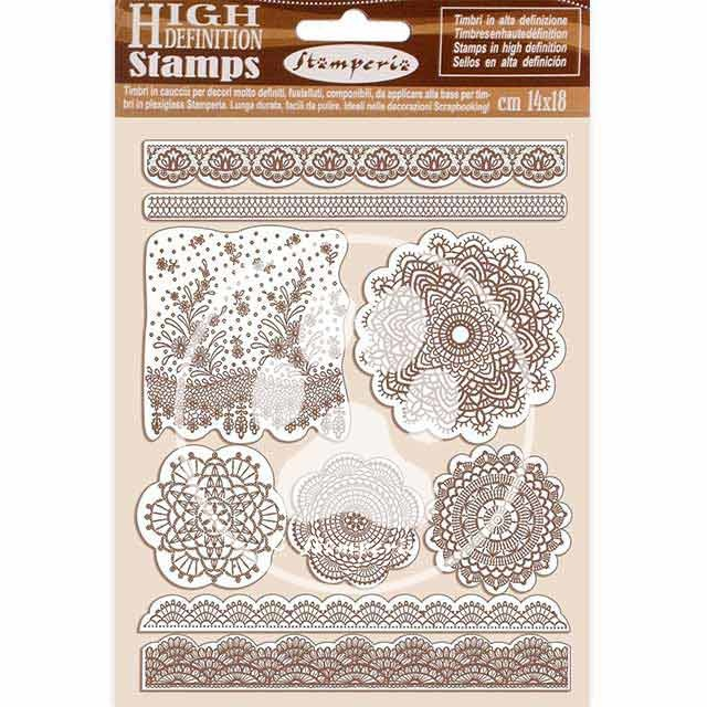Stamperia Natural Rubber Stamp Passion Lace (WTKCC196)
