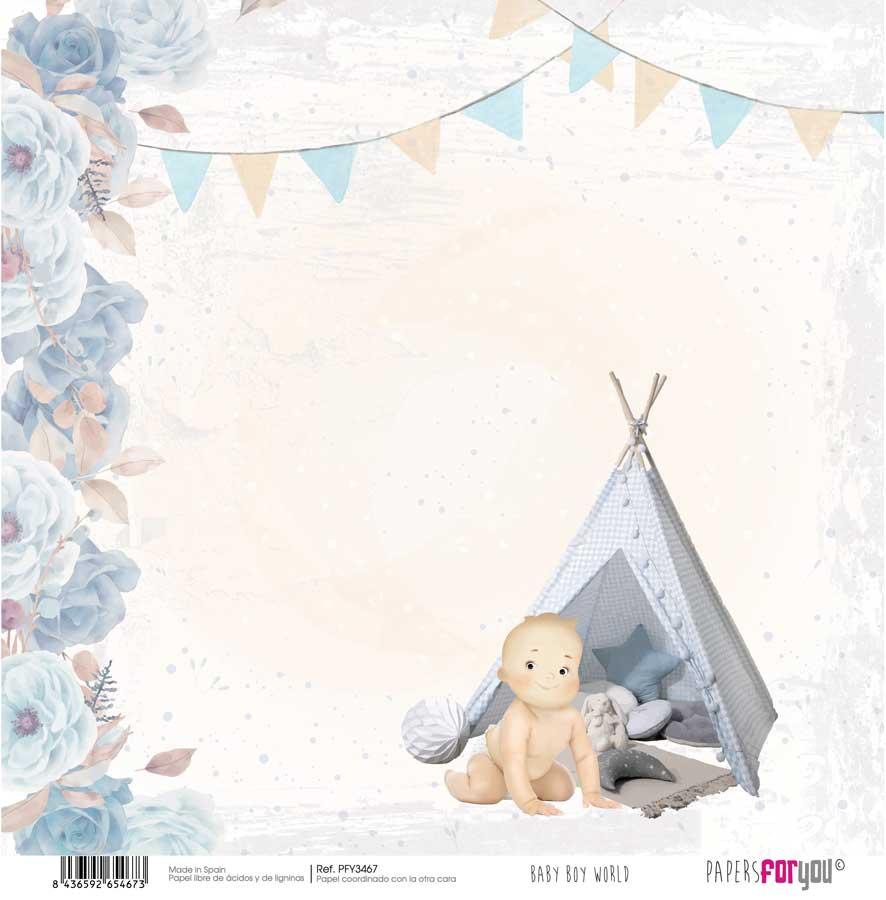 PFY3467 PAPEL SCRAP BABY BOY WORLD