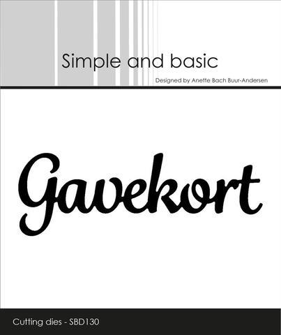 SBD130 Gavekort