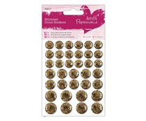 PMA 805916 Shimmer Dome Stickers - Gold