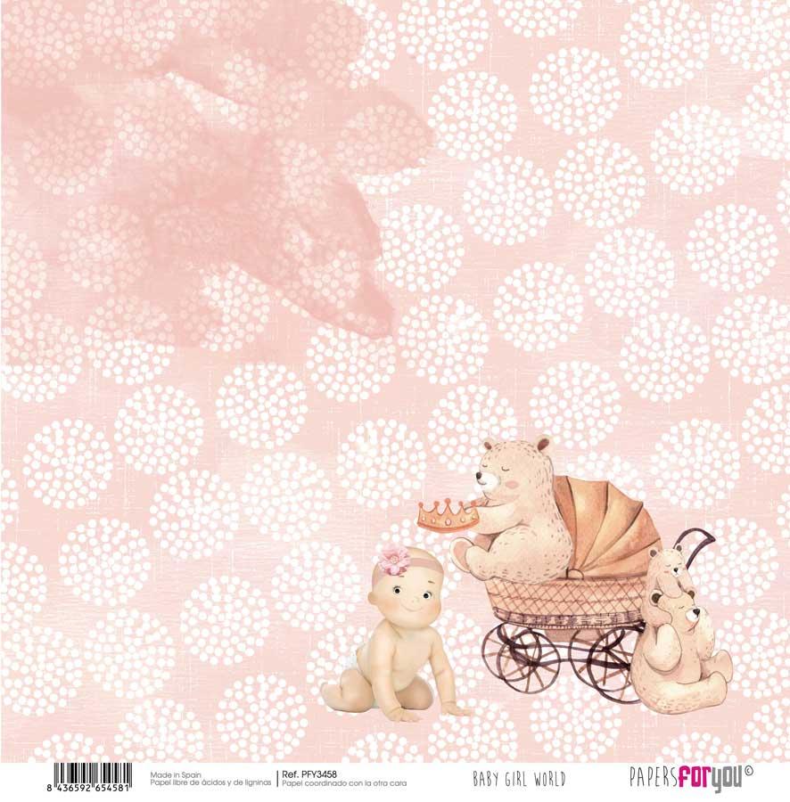 PFY3458 PAPEL SCRAP BABY GIRL WORLD