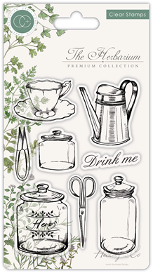 CCSTMP012 The Herbarium - Clear Stamp Set - Utensils