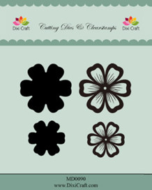 Dixi Craft Dies & Clearstamp flower