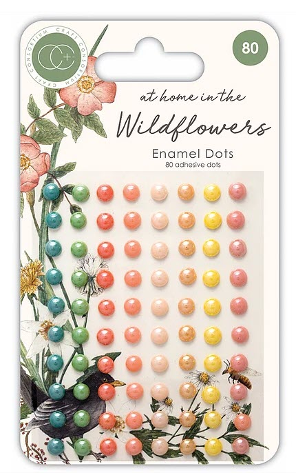 CCADOT007 At home in the wildflowers - Adhesive Enamel Dots
