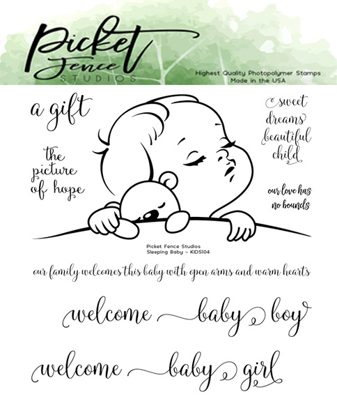 PFS Sleeping Baby Clear Stamps (KIDS-104)
