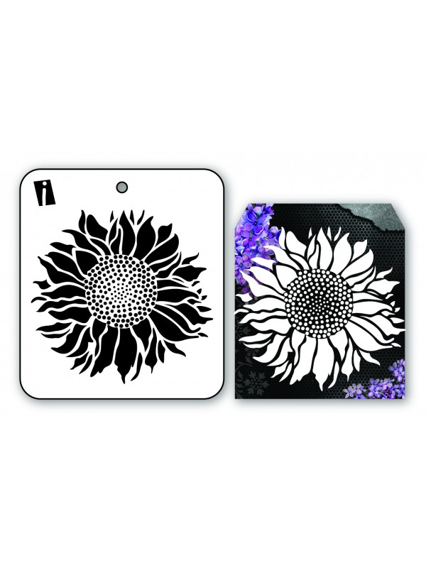 "IC8901 4""x4 Stencil Sunflower"