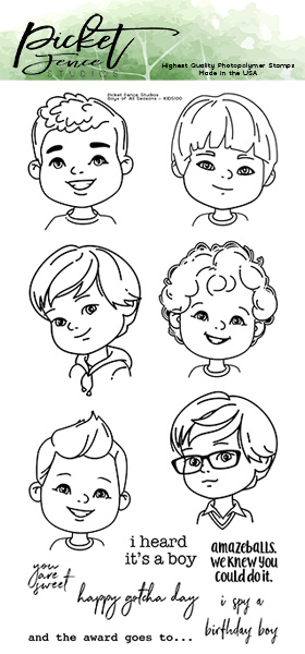 PFS Boys of All Seasons Clear Stamps (KIDS-100)