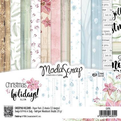 ModaScrap PAPER PACK CHRISTMAS HOLIDAYS 6X6