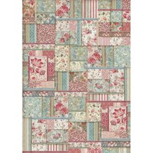 Stamperia Rice Paper A3 Flower Patchwork (DFSA3038)