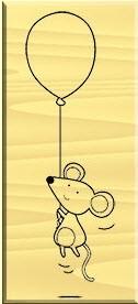 "ARTEMIO Stempel ""Mouse Balloon"""