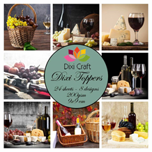 Dixi Craft Toppers Wine farve