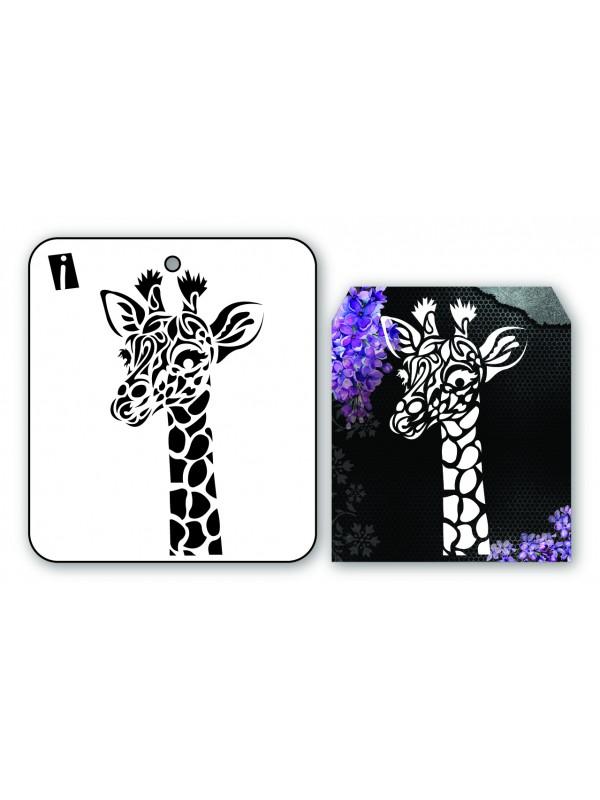 """IC8950 4""""x4"""" Stencil Giraf"""