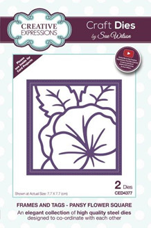 CE CED4377 Pansy flower square