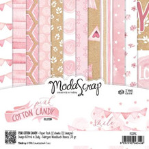 ModaScrap PAPER PACK PINK COTTON CANDY 6x6