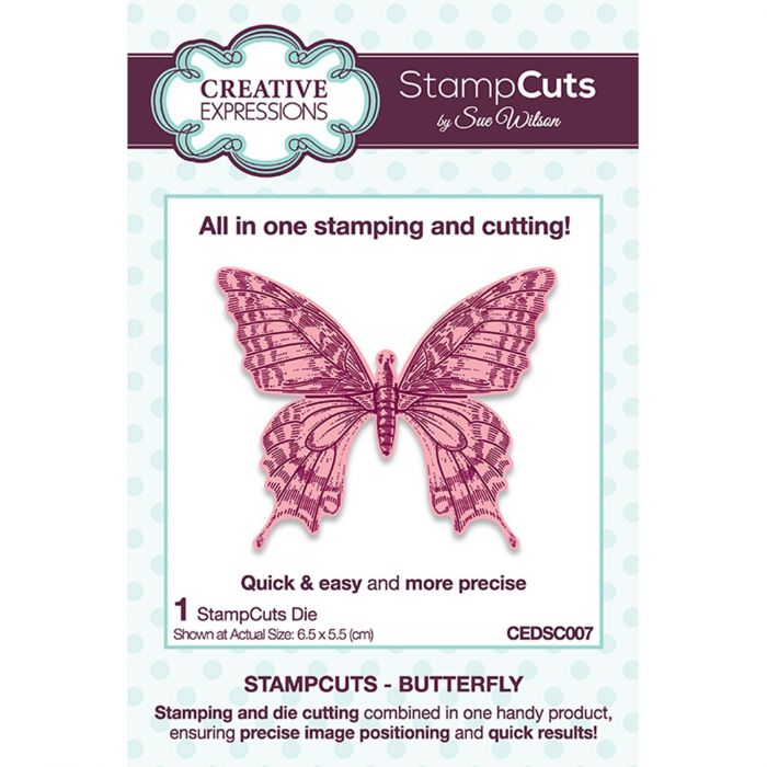 CE CEDSC007 Stampcuts Butterfly