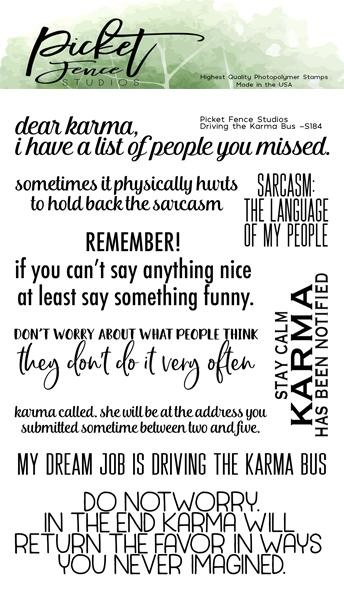 PFS Driving the Karma Bus 4x6 Inch Clear Stamps (S-184)